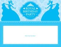 Design de carte de princesse d'anniversaire illustration stock