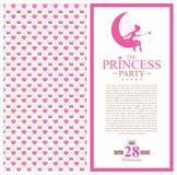 Design de carte de princesse d'anniversaire illustration de vecteur