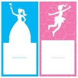 Design de carte de princesse d'anniversaire illustration libre de droits