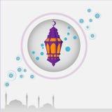 design de carte de Ramadan Photos libres de droits