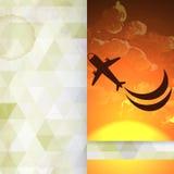 Design de carte de salutation, calibre Images libres de droits