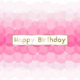 Design de carte de salutation d'anniversaire illustration de vecteur
