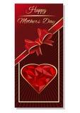 Design de carte de salutation de jour de mères Image stock