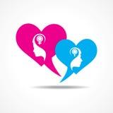 Design de carte de salutation de jour de valentines Photographie stock
