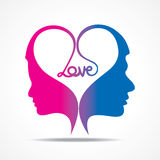 Design de carte de salutation de jour de valentines Image stock