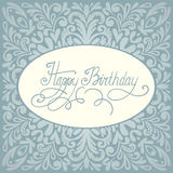 Design de carte de salutation de joyeux anniversaire Photo libre de droits