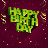 Design de carte de salutation de vecteur de joyeux anniversaire pour des invitations et la célébration Image libre de droits