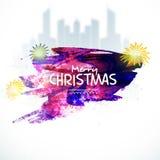 Design de carte de salutation pour la célébration de Noël illustration stock