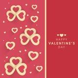 Design de carte de salutation pour la célébration de Saint-Valentin Images stock