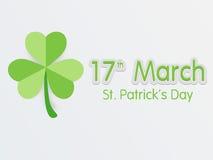 Design de carte de salutation pour la célébration du jour de St Patrick Photo libre de droits