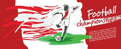 Design de carte du football, vecteur du football Photo libre de droits