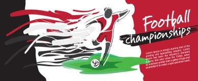 Design de carte du football, vecteur du football Images libres de droits