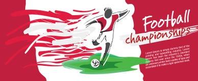 Design de carte du football, vecteur du football Photo stock
