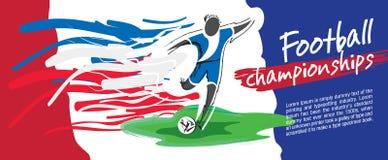 Design de carte du football, vecteur du football Image libre de droits
