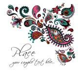 Design de carte floral Invitation décorative Photo libre de droits