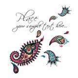 Design de carte floral Invitation décorative avec tiré par la main Photographie stock libre de droits