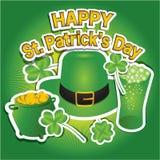 Design de carte heureux de jour du ` s de St Patrick Photographie stock