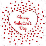 Design de carte heureux de jour du ` s de Valentine Photo stock