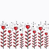 Design de carte heureux de Saint-Valentin Image libre de droits