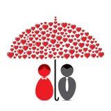 Design de carte heureux de Saint-Valentin Photographie stock