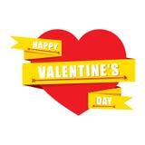 Design de carte heureux de Saint-Valentin Photo libre de droits