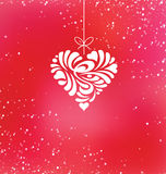 Design de carte heureux de salutation de Saint-Valentin Images stock