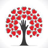 Design de carte heureux de salutation de Saint-Valentin Image libre de droits