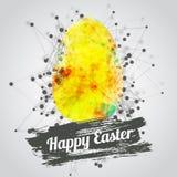 Design de carte heureux moderne de Pâques de vecteur avec lumineux Photographie stock