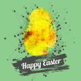 Design de carte heureux moderne de Pâques de vecteur avec lumineux Images stock