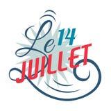 Design de carte heureux de salutations de jour de bastille 14 juillet illustration créative de vecteur de Frances vive de La de J illustration libre de droits