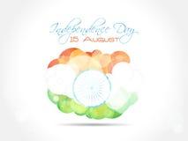 Design de carte indien de salutation de Jour de la Déclaration d'Indépendance avec Images stock