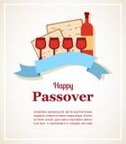 Design de carte juif de salutation de vacances de pâque Illustration de vecteur illustration libre de droits
