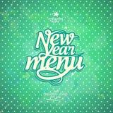 Design de carte de menu de nouvelle année de style de vintage Images libres de droits