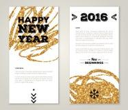 Design de carte moderne de salutation avec la peinture d'or illustration libre de droits