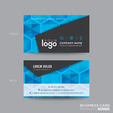 Design de carte moderne noir et bleu d'affaires illustration stock