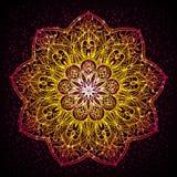Design de carte de présent de diwali de mandala Photographie stock