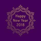 Design de carte de salutation de la bonne année 2018 Image stock