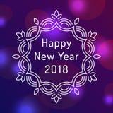 Design de carte de salutation de la bonne année 2018 Photographie stock