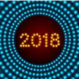Design de carte de salutation de la bonne année 2018 Photo libre de droits