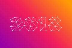 Design de carte de salutation de la bonne année 2018 Images libres de droits