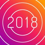 Design de carte de salutation de la bonne année 2018 Photo stock
