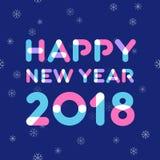 Design de carte de salutation de la bonne année 2018 Image libre de droits