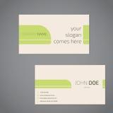 Design de carte simpliste d'affaires avec le slogan illustration stock