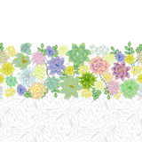 Design de carte succulent de frontière de jardin Photographie stock