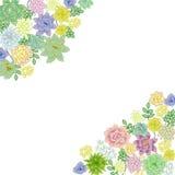 Design de carte succulent de frontière de jardin Images stock