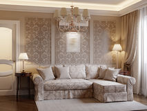 Design de interiores acolhedor da sala de visitas Foto de Stock