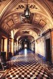 Design de interiores da galeria de um castelo de quinze cem Imagem de Stock