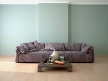 Design de interiores da sala com um sofá Imagens de Stock