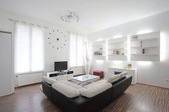 Design de interiores da sala de visitas Fotografia de Stock Royalty Free