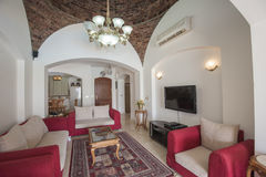 Design de interiores da sala de visitas luxuosa do apartamento Foto de Stock Royalty Free